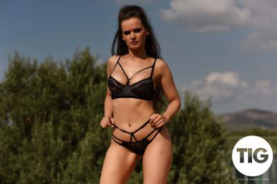 Ashley White - Ashley White Shooting in Black Lingerie