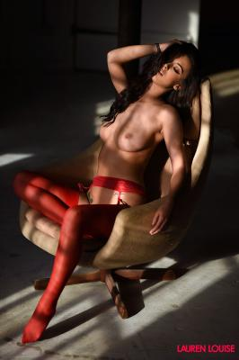 Lauren Louise - In Sexy Red Lingerie