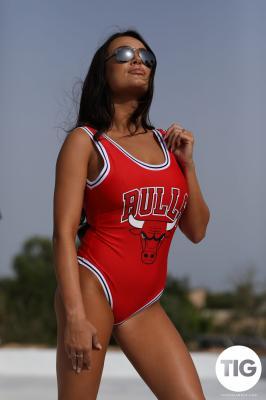 Lucy Evans - Lucy Evans in BULLS Bodysuit