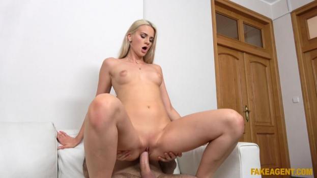 Blonde fucked on desk