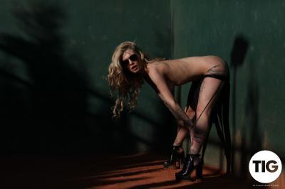 Saskia Valentine - Saskia Valentine Shooting in Her Bodysuit