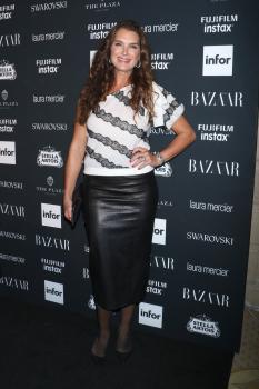 Brooke Shields attends Harper's Bazaar ICONS party 1