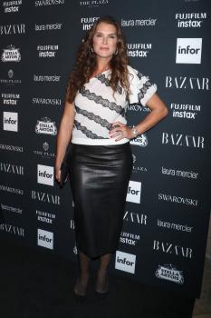 Brooke Shields attends Harper's Bazaar ICONS party 2