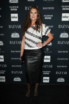 Brooke Shields attends Harper's Bazaar ICONS party 9