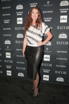 Brooke Shields attends Harper's Bazaar ICONS party 12
