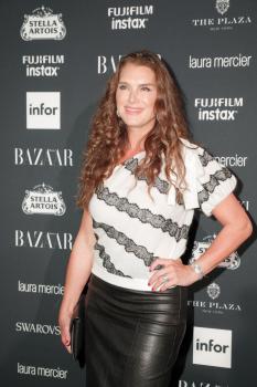 Brooke Shields attends Harper's Bazaar ICONS party 14